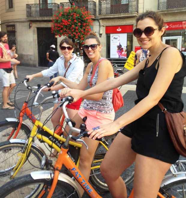 biking girls