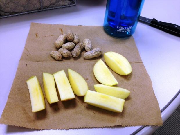 apple and peanuts