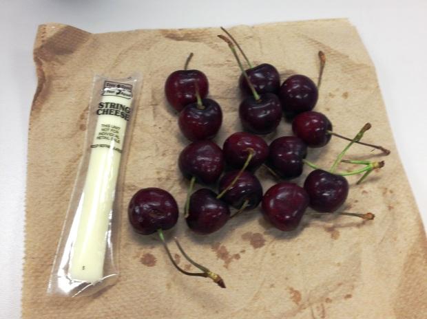cherries and cheese