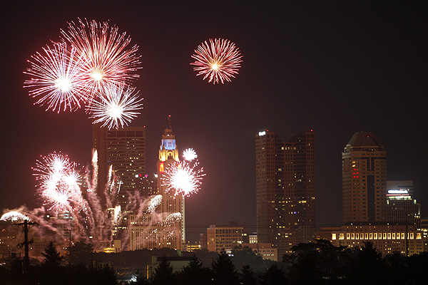 (BOOM2010_WF_7/2/2010) Red White and Boom fireworks in downtown Columbus, Ohio on Friday, July 2, 2010.(Dispatch photo by Will Figg)