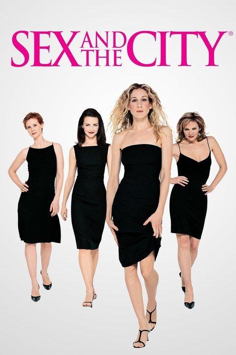 Sex and the City TV series (1998-2004) starring Sarah Jessica Parker as Carrie Bradshaw, Kim Cattrall as Samantha Jones, Kristin Davis as Charlotte York and Cynthia Nixon as Miranda Hobbes - dvdbash.com